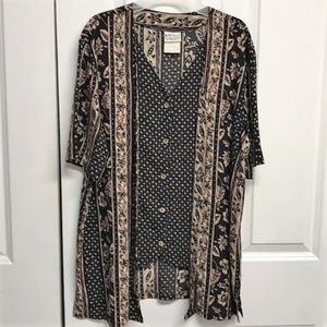Napa Valley Layer Look Blouse Size S Floral Design
